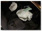 Žmones automobilyje išgelbėjo išsiskleidusios oro pagalvės.