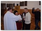 Krikštynų ceremonijos akimirka.