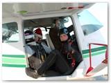 """G. Papečkys - lėktuvo """"Cesna"""" pilotas."""