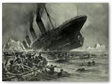 """""""Titanikas"""" skęsta. To meto piešinys."""