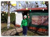 Ne vieną margutį ant Velykų obels yra pakabinęs ir jauniausias sodybos gyventojas Joris, beje, per Velykas švęsiantis savo 7-ąjį gimtadienį.