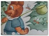 """1994 m. išleista pirmoji O. Mačiulienės knygelė vaikams """"Pirko meškinas bites""""."""