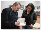 Susitikimo su A. Užkalniu Marijampolės P. Kriaučiūno viešojoje bibliotekoje akimirka.