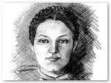 J. Glemžaiė-Bulovienė (autoportretas).