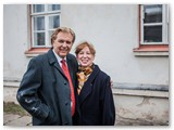 """Eglė Mikulionytė ir Vyto Ruginis. Filmo """"Stebuklas"""" filmavimas. Nuotr. aut.  Matas Astrauskas."""