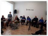 """A. Murauskienės """"Rudens akvarelės"""" pristatymas Sasnavoje."""